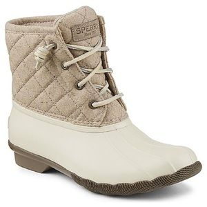 Sperry SALTWATER QUILTED WOOL BOOT sz 9